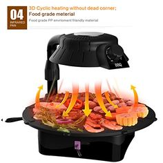 3D smokeless electric grill infrared heat grill for home BBQ NBLY-003 > Materials: Non-Stick Meterial : Teflon/Carbon Steel Button:With 5 levels power on/power off./30min timer with tip bell Function: Detachable Oil Container,Overheat Protection,Adjustable Check more at http://farmgardensuperstore.com/product/3d-smokeless-electric-grill-infrared-heat-grill-for-home-bbq-nbly-003/