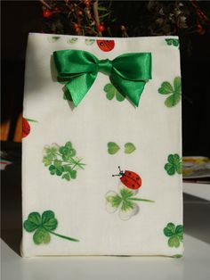 Fabric Gift Bag with free shipping by ducklingpond on Etsy