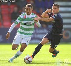 Ross County 0-5 Celtic, 18th October 2014. Jason Denayer in action for Celtic