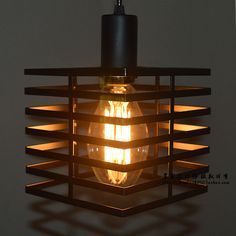 Edison Retro Style Industrial Light Bulb Lamp Metal Cage Black Cube Droplight-in Pendant Lights from Lights & Lighting on Aliexpress.com | Alibaba Group