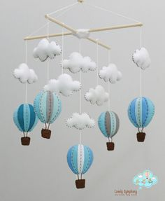 business days DELIVERY Lime Miami hot air balloons baby mobile, baby mobile, up in the air mobile, bright and colorful mobile Twin Baby Rooms, Baby Bedroom, Kids Bedroom, Baby Crib Mobile, Baby Cribs, D N Angel, Bunting Pattern, Kit Bebe, Felt Mobile