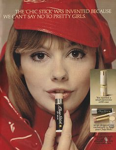 "October 1967. 'The ""Chic Stick""was invented because we can't say no to pretty girls.'"