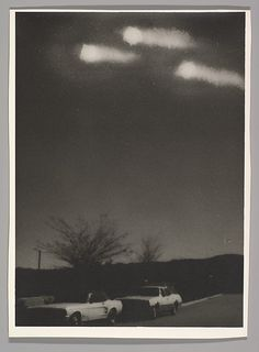 Jim Shaw (American, 1952). UFO Photo (from the UFO Photo Series), 1978. Gelatin silver print. The Metropolitan Museum of Art, New York. Purchase, Vital Projects Fund Inc. Gift, through Joyce and Robert Menschel, 2015 (2015.462) | © Jim Shaw. #CosmicWonders