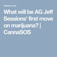 What will be AG Jeff Sessions' first move on marijuana? | CannaSOS