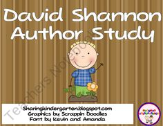 David Shannon Author Study, Don't know if this is too advanced but they have other books to do it with. Definitely can't do the whole class, maybe when we break into groups. Library Lesson Plans, Library Skills, Library Lessons, Library Ideas, No David, David Shannon, Readers Workshop, Writing Workshop, Reading Comprehension Games