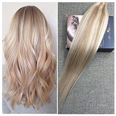 Moresoo Fashion Balayage Color Seamless Tape in Hair Extensions Light Golden…