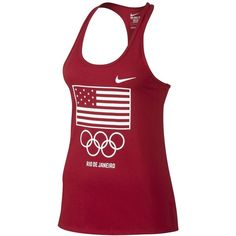 Nike Womens Team Usa Flag Graphic Tank Top ($30) ❤ liked on Polyvore featuring nike