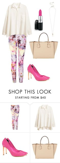 """""""Colorful pants"""" by momockapai ❤ liked on Polyvore featuring Ted Baker, H&M, Moreau and MAC Cosmetics"""