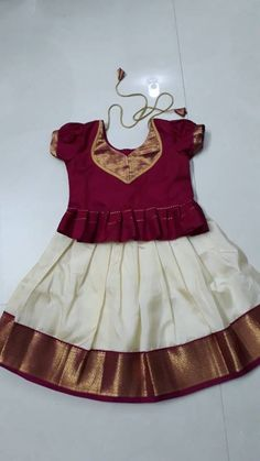 Frocks For Girls, Dresses Kids Girl, Cotton Frocks For Kids, Baby Girl Dresses, Kids Outfits, Baby Girl Lehenga, Kids Lehenga, Girls Frock Design, Baby Dress Design