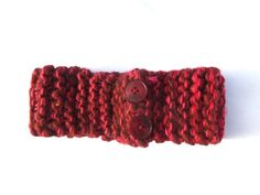 Red Root Chakra Yarn Headband  Handmade by SamiPKCreations on Etsy