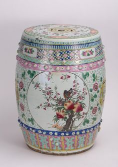 Delicieux CHINESE FAMILLE ROSE PORCELAIN GARDEN SEAT On