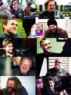 I remember when they used to smile. Sons of anarchy Charlie Hunnam Ryan hurst opie jax Sons Of Anarchy Samcro, Sons Of Anarchy Motorcycles, Ryan Hurst, Theo Rossi, Tommy Flanagan, Charlie Hunnam Soa, Ryan Guzman, Jax Teller, Sons Of Anarchy