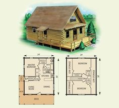 spencer log home and log cabin floor plan
