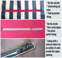 5f6d6775036b How to add a zipper pocket to any purse pattern