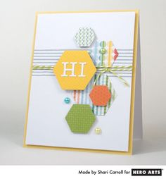 Hexagon Hi: Shari combines Geometric Shapes (DI059) and Uppercase Alphabet (DI061) Fancy Dies HeroArts