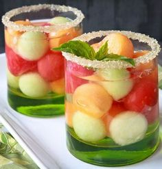 rum melons + coconut water