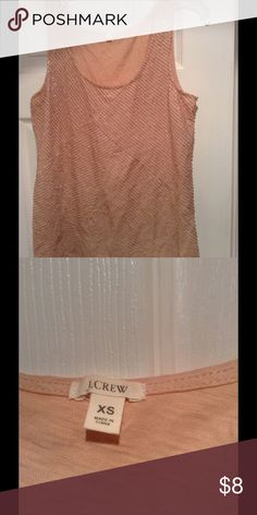 J Crew sequins tank top NWOT Champagne color tank top by J Crew. Front is fully sequins. Back is plain. Size XS but runs full. Never used tags were removed. J. Crew Tops Tank Tops