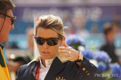 Australia's Edwina Alexander (also the Gucci equestrian girl) plots her attack of the final individual showjumping round | ProEquest photo