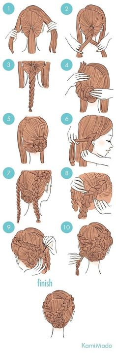 Easy To Do Hairstyles, Cute Simple Hairstyles, Elegant Hairstyles, Hairstyles For School, Braided Hairstyles, African Hairstyles, Braided Updo, Teenage Hairstyles, Amazing Hairstyles
