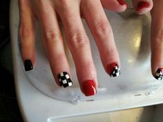 Racing nails! Too cute!!
