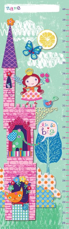 """I'm so big"" Growth Chart design illustration print greetings card  victoriajohnsondesign.com"