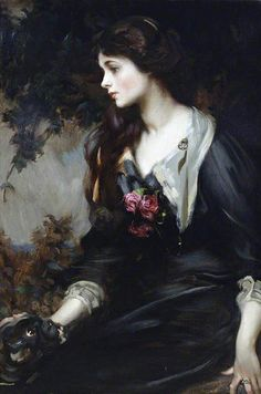 Lady Marjorie Manners, 1883-1946, later Marchioness of Anglesey, aged 17, 1900 by James Jebusa Shannon. From Hauk Sven on Flickr.