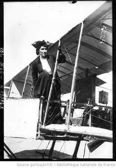 Thérèse Peltier (1873 – 1926) was a French sculptress and aviator. Popularly believed to have been the first ever woman passenger in an airplane she should perhaps instead be recognised as the first woman to pilot a heavier-than-air craft. A friend of fellow sculptor Leon Delagrange when he became interested in aviation Peltier soon followed