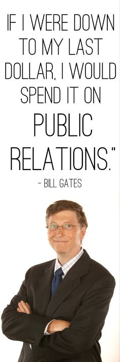 A quote that inspires me about the value of my industry - thanks Bill Gates!