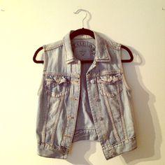 Denim vest from Aritzia Talula for Aritzia Light wash denim vest with two front pockets. Aritzia Jackets & Coats Vests