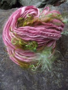 Handspun yarn handpainted art yarn Merino wool and par Yarnarchy, $32,00
