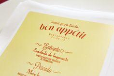 Minuta/Menú para la boda de MyP by Presume de Boda!! Parisian Style Wedding