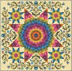 RAINBOW STAR APPLIQUE QUILT PATTERN, By Edyta Sitar From Laundry Basket Quilts #LaundryBasketQuilts