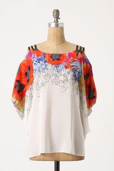 such a pretty blouse..wondering if belly would fit.