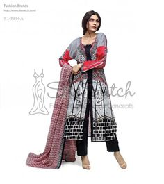 Price: $12 - ST-8866A from Libas collection is a stylish and elegant addition to the spring/summer lawn collection 2014.
