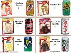 All The Cakes You Can Make With Just A Box Of Cake Mix And A Bottle Of Soda Kuchenmischung + Soda = Kuchen. Cow Cakes, Cupcake Cakes, Cake Fondant, Egg Free Cupcakes, Cake Mix Cupcakes, Cupcake Mix, Marshmallow Fondant, Cupcake Icing, Cupcake Ideas
