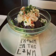 Crab and Purple Majesty Potato Salad, The Prawn on the Lawn, Islington