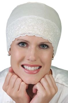 Lace Sleep Cap for Women - Sleeping Hat for Cancer, Chemo, Sleep Hat
