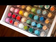 Video: Embossing Powder Organization - Jennifer McGuire Ink