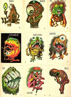 """""""Ugly"""" stickers - I loved collecting these when I was about 12-years old."""