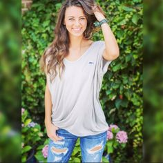 Must Have Of The SEASON!! The Marina top in Light Grey.  Get yours today @_brooklynns_ and select retail locations nationwide!  #southerncrossapparelgirls #musthave #bestseller #summer2016 #dallasmarket #atlantagiftshow