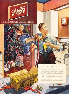 Just Couldn't Wait, art by Albert Dorne. Schlitz Beer 1950.