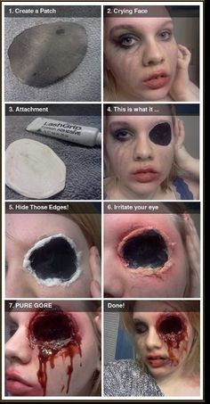 Scary zombie face makeup #halloween