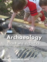 Lists of archaeology books to teach children *note* they do mix up paleontology books with archaeology books (sigh) but those are good books for those units too :)
