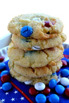 Red, white, & sparkle cookies ~ Memorial Day/4th of July