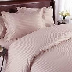Luxurious BLUSH Damask Stripe, KING Size. EIGHT (8) Piece GOOSE DOWN Comforter BED IN A BAG Set. 1200 Thread Count Ultra Soft Single-Ply 100% Egyptian Cotton. INCLUDES 4pc BED SHEET Set, 3pc DUVET SET & GOOSE DOWN Comforter by Egyptian Cotton Factory Outlet Store. $279.95. Luxurious GOOSE DOWN Comforter, Allergy Free, 650FP, 35oz All Year Down. Brand New and Factory Sealed in a Beautiful Zippered Package. 100% Luxury 1200TC long-staple Egyptian Giza Cotton 4pc Sheet Set...