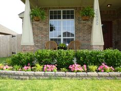 Landscaping with Rocks Around Your Porch Front porches Porch