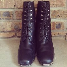 90's Grunge Pronged Lace-up Boots Size 8.5 9
