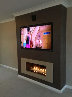 Wonderful Cost-Free Fireplace Remodel tv above Ideas Preferred finish Fireplace Remodel, House Design, Home Living Room, Home, Home Fireplace, Living Room With Fireplace, Interior Design Living Room Modern, House Styles, Living Room Tv Wall