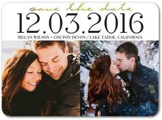 Closer Together - Signature White Photo Save the Date Cards - Bonnie Marcus - Black : Front