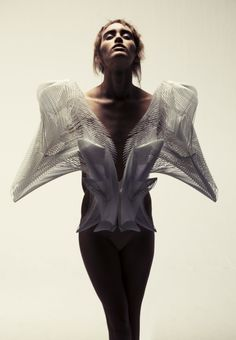 Iris Van Herpen's first couture show in Paris, January 2011. Herpen pushes creativity to wonderful places.